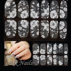 2014-New-3D-White-Flower-Lace-Nail-Adhesive-Stickers-Rhinestone-Decals-16Designs-5sheets-lot-Nail-Art.jpg (800×800)