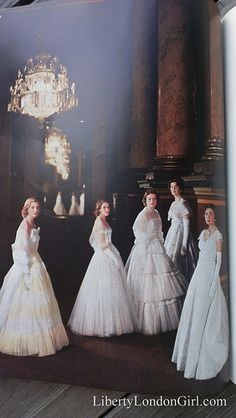 Queen Elizabeth's Maids of Honor at her 1953 coronation