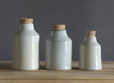 wood fired pottery bottle set special edition modern rustic woodfired pottery by vitrifiedstudio