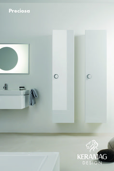 The Preciosa II collection's tall cabinets by Keramag Design UK. Find more at: http://www.keramagdesign.com/
