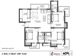 Imperia Mirage Homes introduce 3BHK+3 Toilet 1350 sq.ft. For more details please visit http://zonalproperty.com