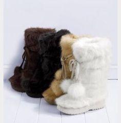 #VictoriaSecret #Winter #Faux #Fur #Pom #Boots #ColinStuart #MidCalf #Fashion #Shopping #eBay