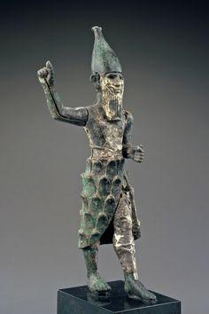 "coolartefact: ""Hittite Bronze, Silver and Electrum Mountain God Figurine, c. Mid-2nd Millennium BC Source: https://imgur.com/idqxKro """