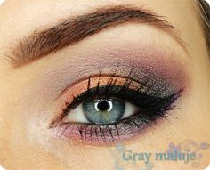 Gray paint - make-up and beauty blog: Makeup: The wind blew leaves