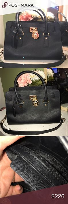 Michael Kors Hamilton bag❤️ It has enough room to carry all you daily essentials and is just the right size that you won't mind carrying it around all 😍 I used it twice it comes with dust bag. I'm open to offers💕💕 Michael Kors Bags Satchels
