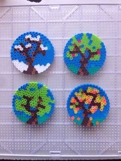 4 seasons perler beads by Amy Johnson Castro