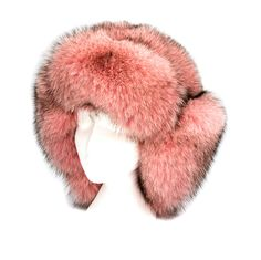 Wonderful Large Pink Fox Fur Trapper Hat | I wish it was faux fur