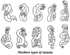 Northern types of manaia