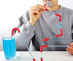 Turn the mundane task of drinking water into a thrilling ride by constructing the craziest straw imaginable using the build your own roller coaster straws. Essentially an erector set for straws, you'll be able to engineer creations so wacky they'll put crazy straws to shame.