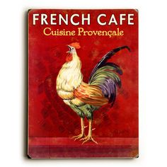 Artehouse LLC French Café Rooster Vintage Advertisement Size: H x W x D Vintage Advertising Posters, Vintage Advertisements, Vintage Posters, French Posters, French Country Kitchens, French Country Decorating, Country French, Country Style, Kitchen Country