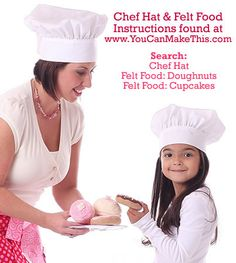 FREE! Child and Adult Size Chef Hat patterns