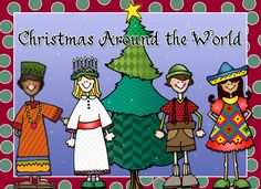 Christmas around the world, christmas clip art, christmas in other cultures, kwanzaa, st. lucia day, holidays around the world