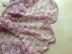 Hand Knitted Silk Lace Wrap Shawl by Snugglescuddles on Etsy, £70.00