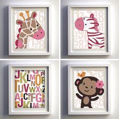 Jungle Jill Art by GardellaGlobal on Etsy Nursery Themes, Nursery Art, Girl Nursery, Nursery Decor, Animal Nursery, Nursery Ideas, My Baby Girl, Baby Love, Jungle Baby Room