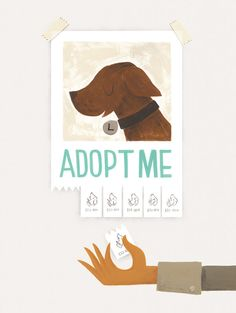 Adopt Me Print - 40% of profits will go to Best Friends Animal Society