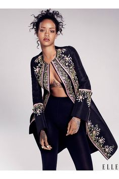 Rihanna's ELLE 2014 Cover Images -  December 2014 Cover ELLE Magazine - Elle