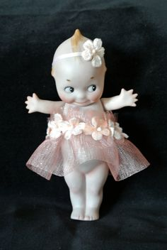 Kewpie Rescued 6 inch Antique Bisque Rose O'Neill Kewpie Doll Made in Germany