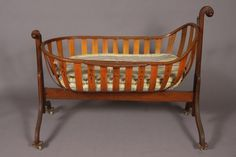victorian baby cradle | 146: Victorian Bent Wood Baby's Cradle, American, Early : Lot 146