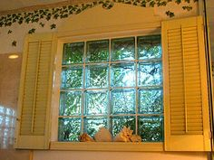 Wallis has a fake window in her room.  I'm thinking about using shutters, window box, awning, etc. with a bulletin board inside.