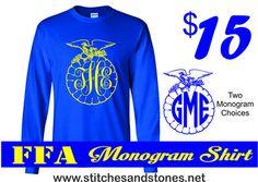 FFA Monogram Tshirt PLEASE I NEED THIS!!!!