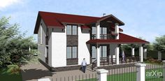 жилой дом: архитектура, 2 эт | 6м, жилье, минимализм, 200 - 300 м2, фасад - штукатурка, коттедж, особняк #architecture #2fl_6m #housing #minimalism #200_300m2 #facade_plaster #cottage #mansion arXip.com