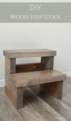 DIY Wood Step Stool   Kids Step Stool #beginnerwoodworking #stepstool #diystool