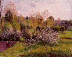 Pommiers en fleurs à Éragny Camille Pissarro