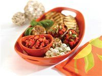 Orange Serving Platter and Dipper Bowl by Rachael Ray