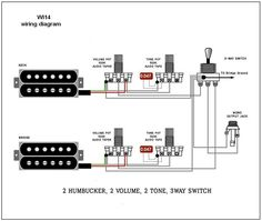 guitarelectronics com guitar wiring diagram 2 humbuckers 3 way rh pinterest com Guitar Wiring Diagrams 2 Pickups Humbucker Guitar Wiring Diagrams