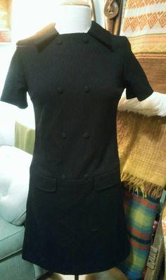 1960 Leo Danal little black dress size 8 by BumpedandBruised