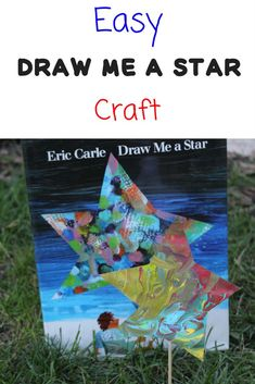 Draw Me a Star Craft Easy Draw Me a Star Craft to go along with the Eric Carle Book, Draw Me a Star. Fun and easy craft activity for preschool or kindergarten. Preschool Books, Preschool Themes, Preschool Lessons, Preschool Classroom, Preschool Crafts, Space Preschool, Craft Kids, Preschool Learning, Teaching