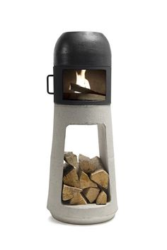 Rustic Wood Stove To Warm A 120 Square Meter Room