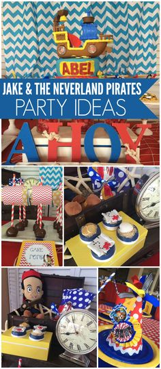 Check out this Jake & the Neverland Pirates party with treasure box favors! See more party ideas at CatchMyParty.com!