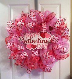 Valentine's Day Wreath/ Heart Wreath /Happy by Wreaths4u2byPaula