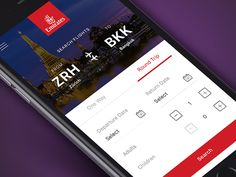 Emirates Flight Booking App  by Faria Anzum✈