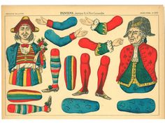 "EKDuncan - My Fanciful Muse: Vintage ""Pantin"" Jumping-Jack Paper Dolls"