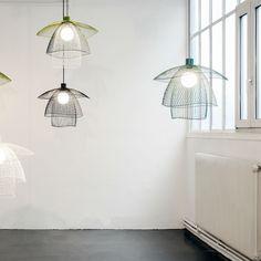 PAPILLON - Lampa wisząca Niebieski/Zielony/Biały Ø56cm Forestier