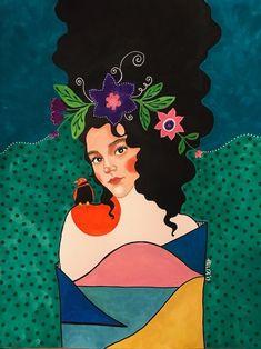 All rights reserved Mural Art, Portrait Art, Portraits, Aesthetic Art, Altered Art, Collage Art, Canvas Wall Art, Illustrators, Folk Art