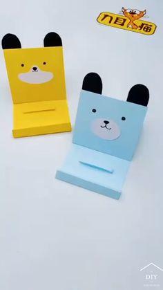 Cool Paper Crafts, Paper Crafts Origami, Fun Crafts, Art N Craft, Craft Stick Crafts, Children Puzzle, Paper Crafts Magazine, Kawaii Crafts, Puzzle Art