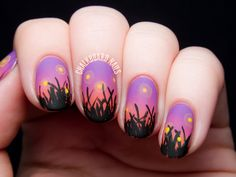 Fireflies in the Field at Sunset by @chalkboardnails