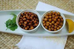 honey cinnamon and garlic, cumin, and sea salt roasted chick pea recipes