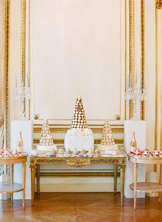 Laduree dessert bar A Destination Wedding in Paris ~ Julie and Eric - KT Merry Photography
