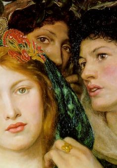 "The Beloved"" (detail), 1865, Dante Gabriel Rossetti."
