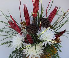 Rustic Silk Flower Bouquet by ArtiFlora on Etsy