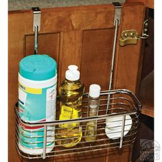 Over-the-cabinet Basket - Handy storage for dish soap, cleaning supplies, pet accessories and more.