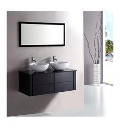 Ensemble de salle de bain ALCARAZ- Meuble Salle de bain double vasque - Décoration salle de bain Decor, Furniture, Bathroom Furniture, Vanity, Lighted Bathroom Mirror, Bathroom Mirror, Bathroom Vanity, Bathroom, Mirror