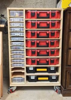 Get your garage shop in shape with garage organization and shelving. They come with garage tool storage, shelves and cabinets. Garage storage racks will give you enough space for your big items and keep them out of the way. Garage Tool Storage, Garage Storage Solutions, Workshop Storage, Garage Tools, Shed Storage, Garage Organization, Diy Storage, Organization Ideas, Workshop Ideas