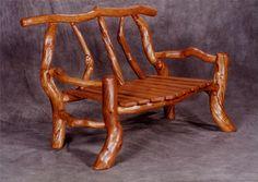 Rustic Wood Juniper Bench