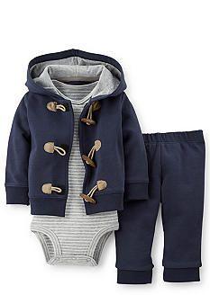 Carter's® 3-Piece Stripe Bodysuit, Cardigan and Pant Set