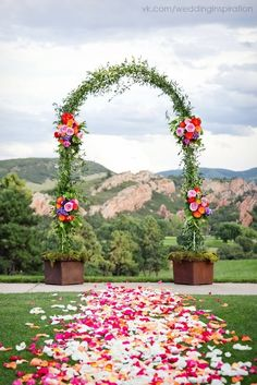 Кованая основа, лиана, мох, цветы